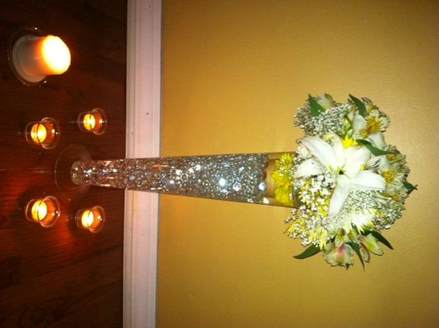 Diy vase at michaels crystals walmart flowers individual