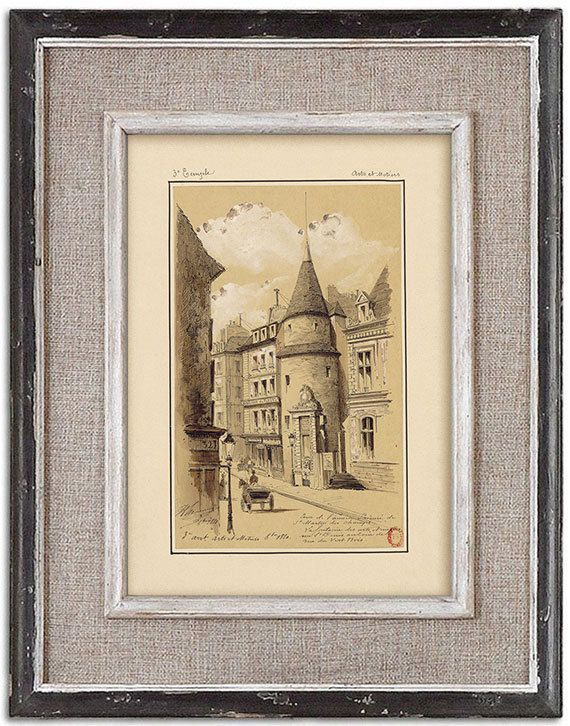 Rare detailed print of old Paris No.1 by J.A. by RoyalArtPrints