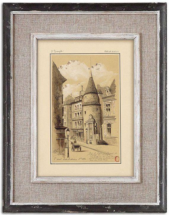 Rare detailed print of old Paris No.1 by J.A. by RoyalArtPrints