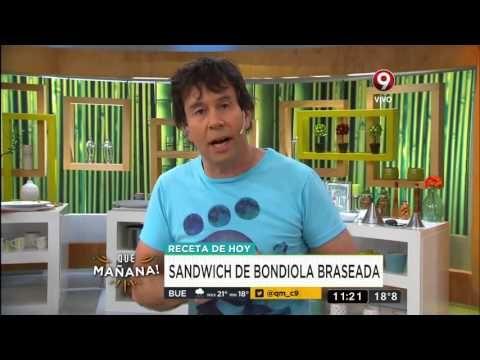 Receta de hoy: Sandwich de bondiola braseada - YouTube