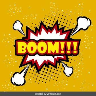 Boom speech balloon in pop art style