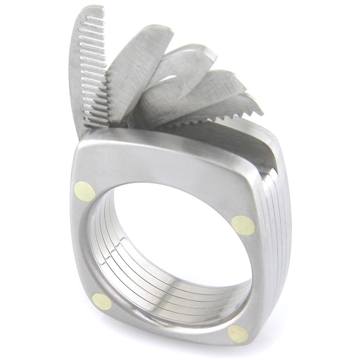 Titanium Utility Ring by boonerings