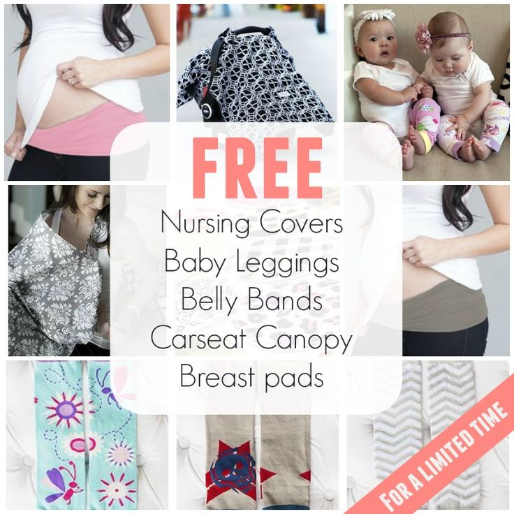Free Baby Stuff: Perfect Baby Shower Gifts Including Udder Cover Nursing Covers, Belly Bands, Carseat Canopy and Breast Pads