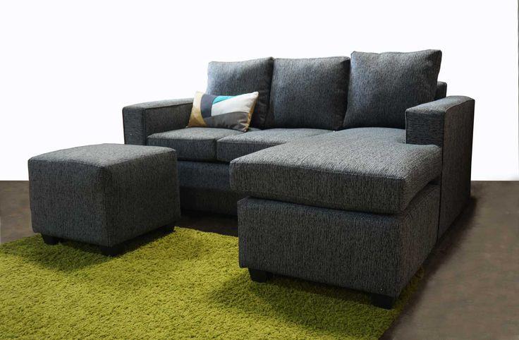 Sofá modular, con chaise longue intercambiable más pouf pequeño. 183 cms de largo. http://livingstore.cl/producto/sofa-roma-3-cuerpos-con-chaise-longue-pouf-tela-dark-grey-d21/