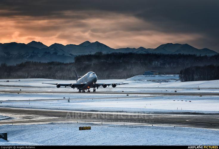 Atlas Air  B747-400LCF Dreamlifter (N249BA) at Anchorage - photo by Angelo Bufalino