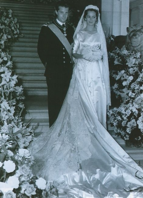Wedding of Prince Albert of Belgium and Princess Paola Ruffo di Calabria in Brussels, Belgium.