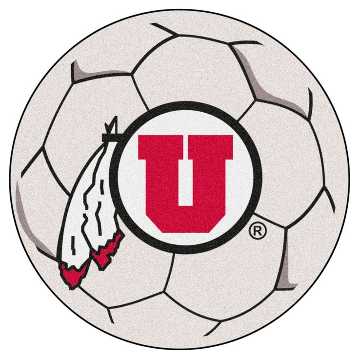 NCAA 27 in. Soccer Ball Mat, Utah Utes
