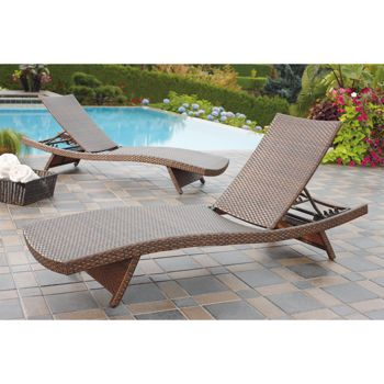 Aloha wicker chaise lounge 2 pack cher patio pinterest for Ava chaise lounge costco