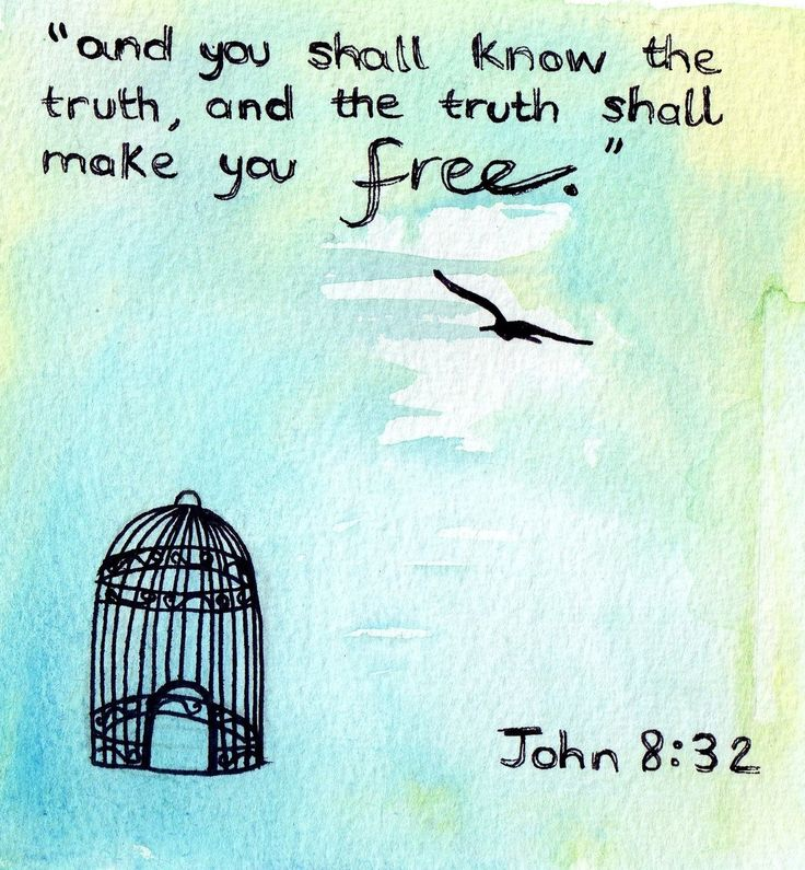 """""""Then Jesus said to those Jews who believed Him, """"If you abide in My word, you are My disciples indeed. And you shall know the truth, and the truth shall make you free."""" John 8:31-32 NKJV"""