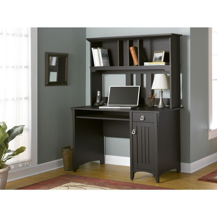 Bush Furniture Salinas Mission Style Desk with Hutch