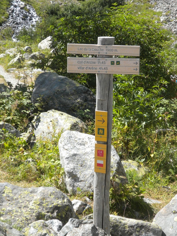 Serre Chevalier at the doorsteps of the Ecrins National Park..trail ...