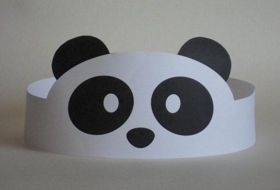Panda Paper Crown  Printable by PutACrownOnIt on Etsy, $2.00