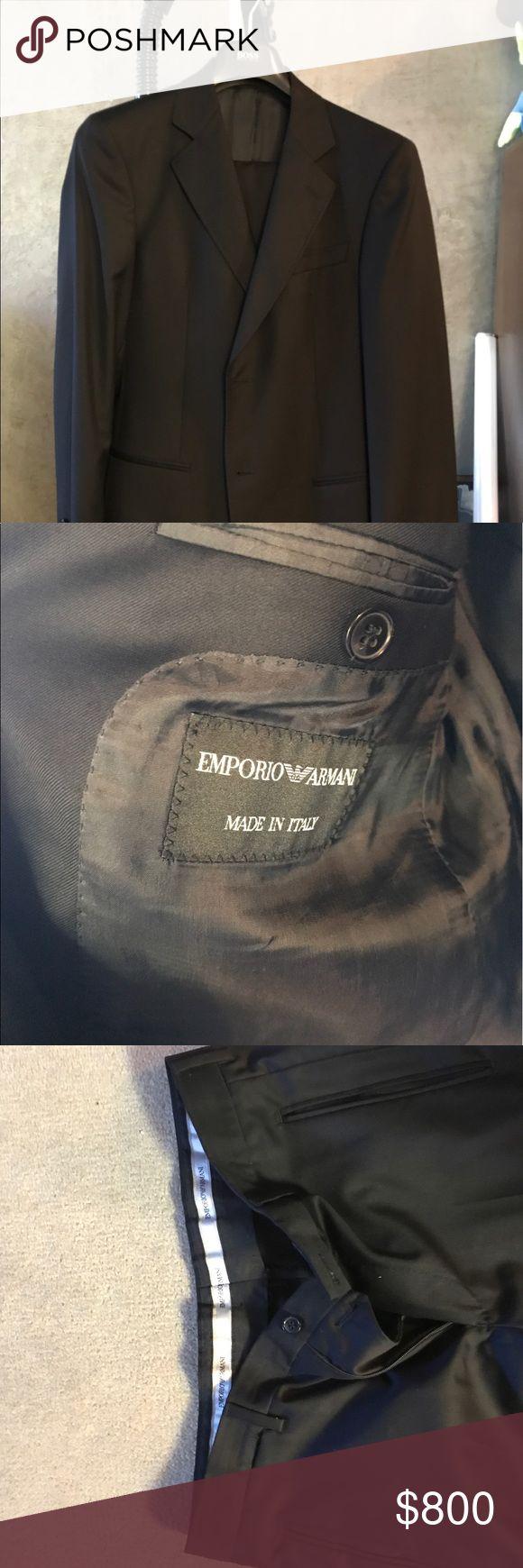 Emporio Armani Black Suit with Pants Emporio Armani Black suit size 48 with 30-31 matching pants Emporio Armani Suits & Blazers Suits