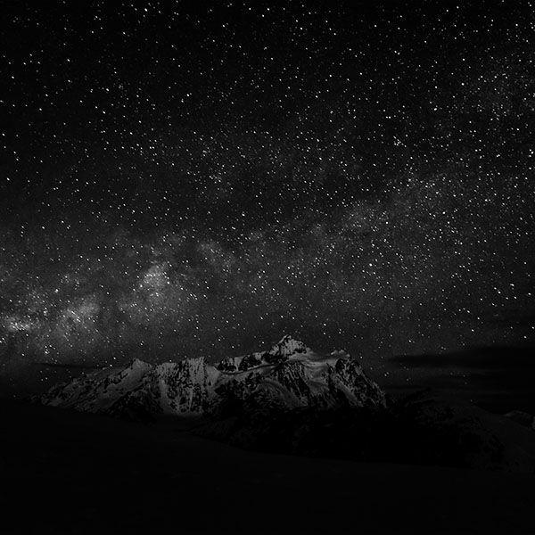 Papers.co wallpapers - nf71-starry-night-sky-mountain-nature-bw-dark - http://papers.co/nf71-starry-night-sky-mountain-nature-bw-dark/ - mountain, sky, space