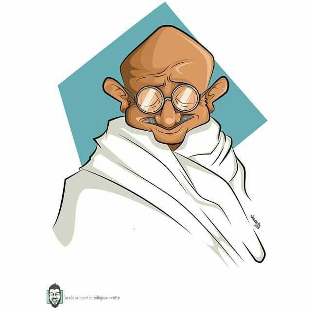 Mahtma Gandhi caricature