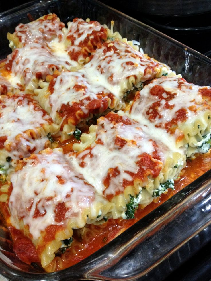 Spinach Lasagna Rolls.. this recipe would work for stuffed shells, manicotti, regular lasagna.. it's versatile and delicious.
