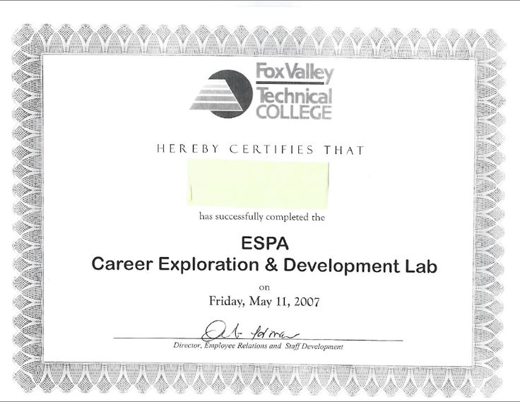 Best My Employment Portfolio Images On   Certificate