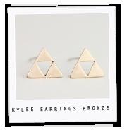 Kylee Earrings – Bronze