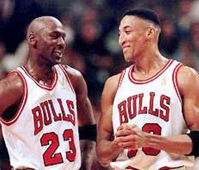 Michael Jordan and Scottie Pippen...best combo ever