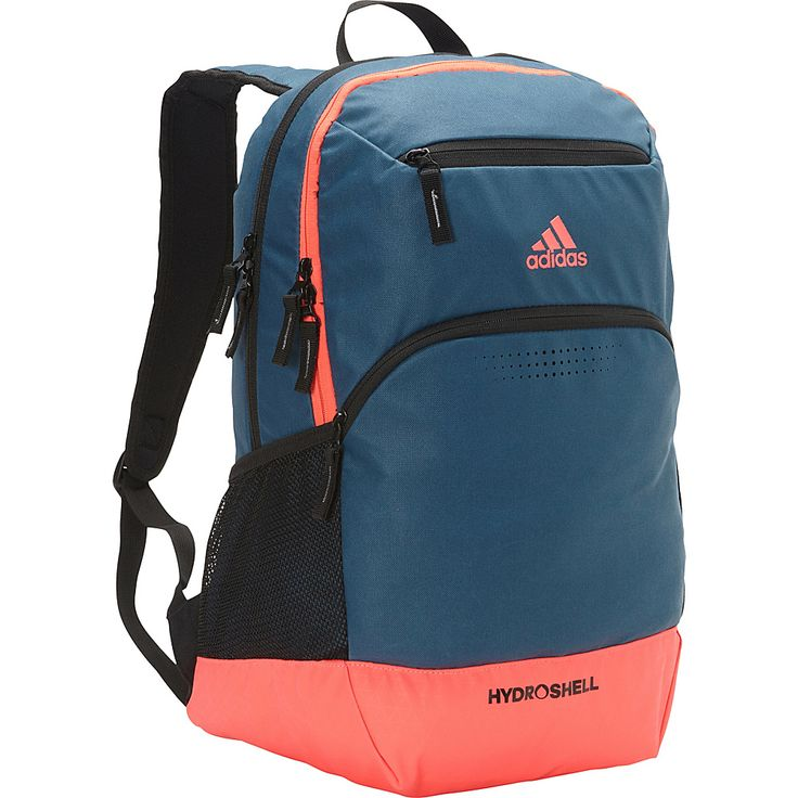 Image of adidas Rumble Backpack Surf Petrol/Flash Red - adidas Laptop Backpacks