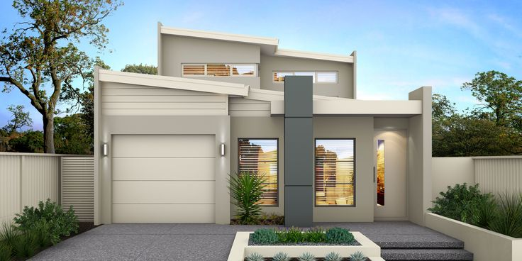 'The Yarra' by Choice by Projex. Two Storey modern home design.