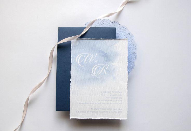 sky is blue, miodunka, błękit, zaproszenia ślubne, koszalin, akwarele, papeteria ślubna, wedding, blue