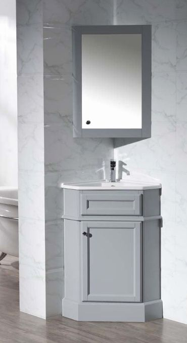 16 Bathroom Corner Cabinet Ideas in 2020   Corner sink ...