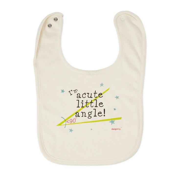 ACUTE ANGLE BIB | Geeky Baby Shower Gift, Infant Wear | UncommonGoods