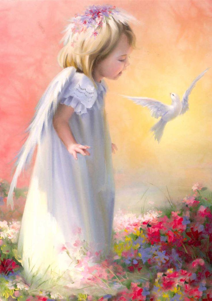 Картинка ангел с голубями