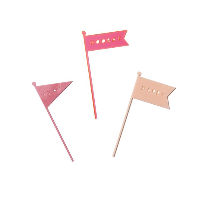 Woohooo! Fly these Pink Poppies For Grace Flag Cake Toppers on your cake to celebrate that special someone's party!  They look great and are re-usable!  Little Boo-Teek - Boutique Kids Party Supplies   Cake Decorations   Designer Party Decorations Online