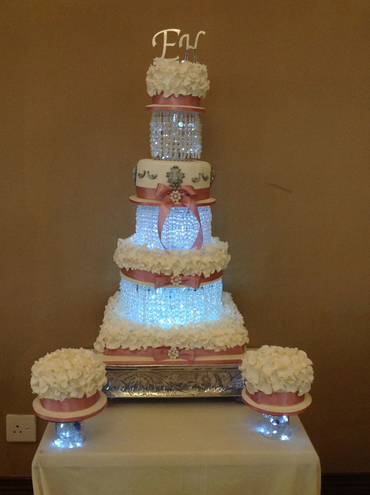 Crystal and Petal cake  - Helens Cake Craft