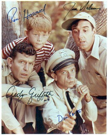 Loved Andy Griffith! Actually have this pic hanging in my karaoke bar. The end of an era....