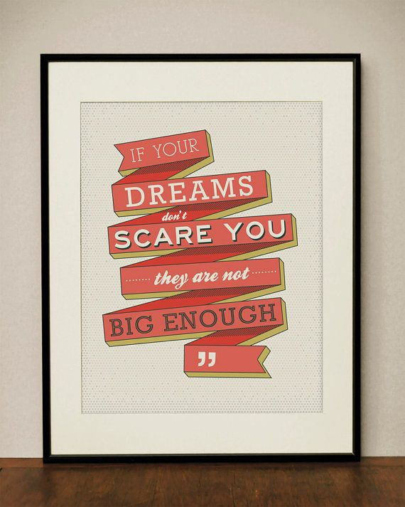 Dreams 11x14 Art Print by ProjectType on Etsy
