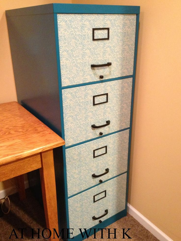 At Home With K: DIY File Cabinet