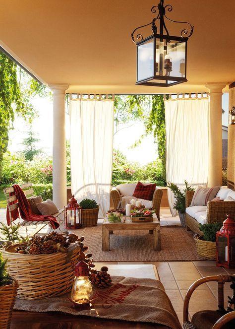 Las 25 mejores ideas sobre decoraciones de porche de - Las mejores decoraciones de casas ...