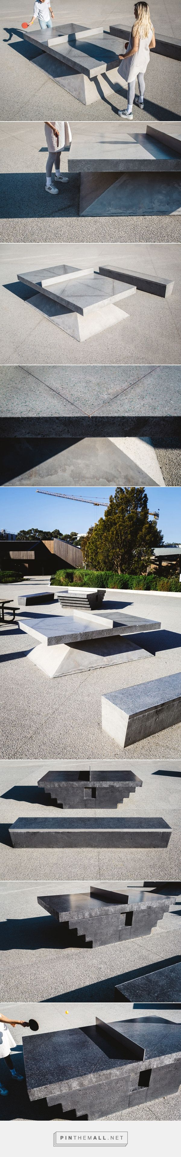 Monoliths: Concrete Ping Pong Tables & Benches - Design Milk - created via http://pinthemall.net