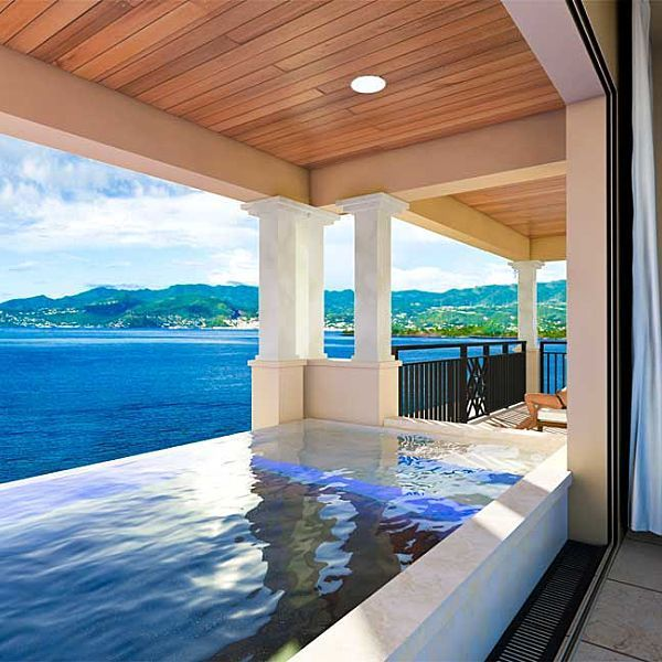 Tour the Caribbean's Newest Resort: Sandals La Source Grenada | Islands. Private Infinity Pool