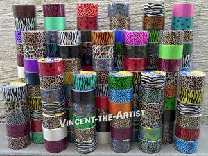Kaikki erikoisen väriset ja kuvioiset ilmastointiteipit. Semmosen 5e/kpl oisin maksimissaan näistä valmis ''maksamaan''. Ei sitä tavallista harmaata, mustaa tai valkeaa. Duct Tape Many Colors to Choose from Colorful Tapes | eBay