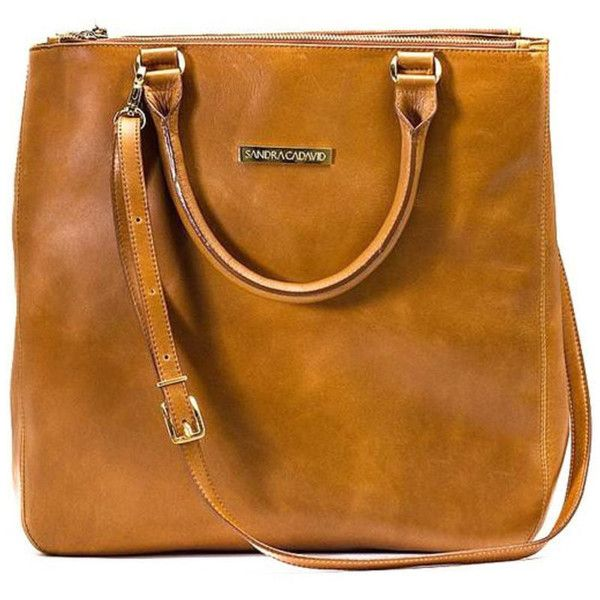 Sandra Cadavid Miss saddle brown leather tote bag found on Polyvore