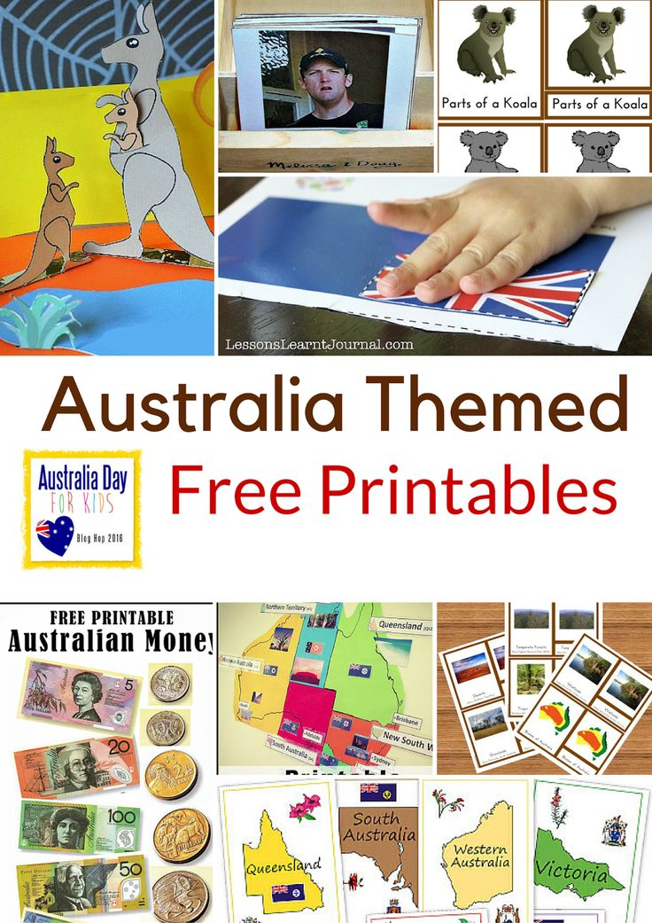Montessori Nature: Australia Themed Free Printables.