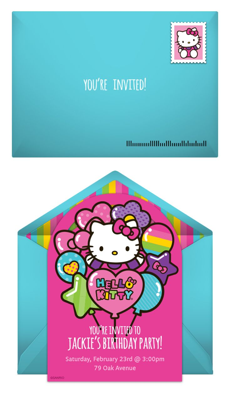 82 best Hello Kitty Birthday Ideas images – Punchbowl Birthday Invitations