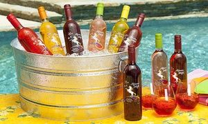 Groupon - 6 or 12 Bottles of Fruit-Flavored Moscato with Two or Four govino Wine Glasses from Afternoon Delight (59% Off) . Groupon deal price: $39.99