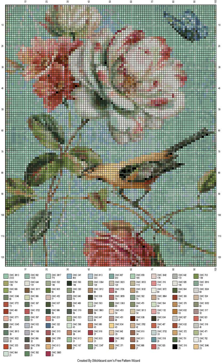 It is adapted from a free thumbnail by using stitchboard.com * free pattern wizard!