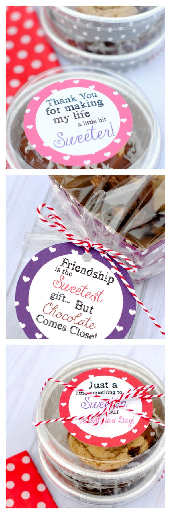 Cute Gift Tags to package Valentine's Treats for friends