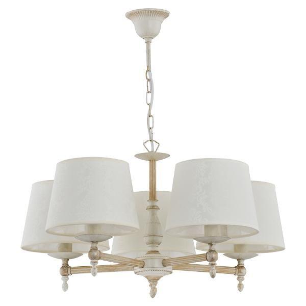 Потолочные и подвесные светильники Alfa Люстра 18535 Roksana (плафон 83051 - 5 шт.)