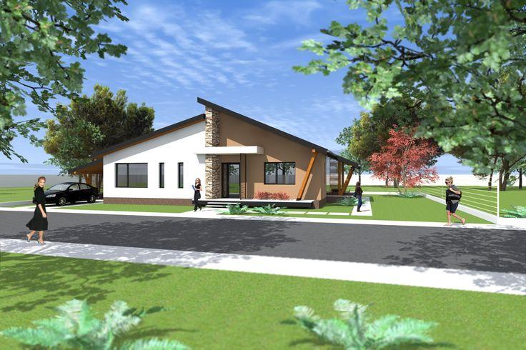 Proiect casa parter A27 Modern. Arhitect Daniel Negru.
