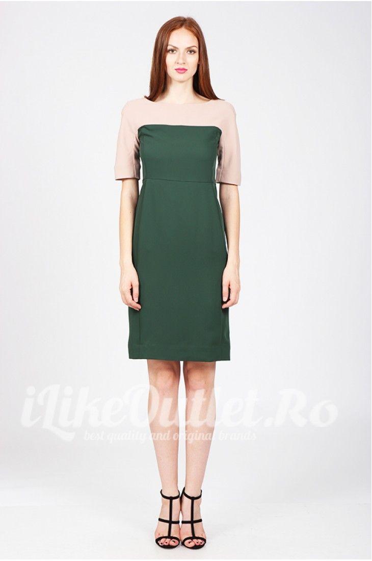 Rochie verde cu bej Madame - COS