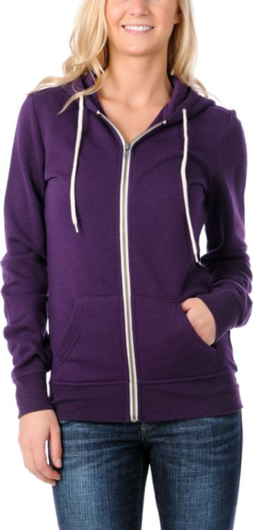 #Zine Girls #Purple Zip-Up #Hoodie #Zumiez #Sweatshirt