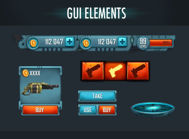 GUI Elements on Behance
