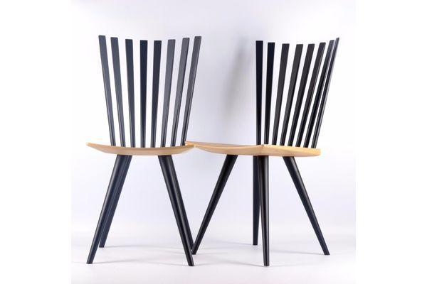 Modern Danish Johannes Foersom & Peter Hiort Lorenzen Mikado Chairs (2pcs) | Vinterior
